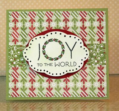 Joy card standing black
