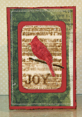 Joy bird card front