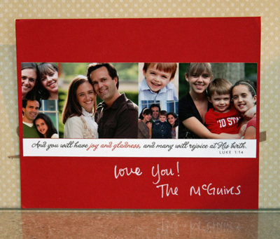 Jennifer 2010 card back