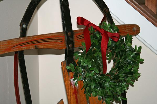 Wreath on sled