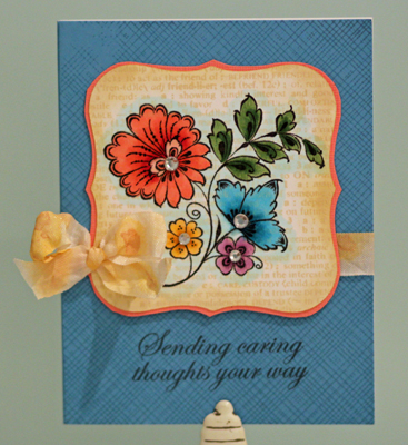 Caring thoughts card front