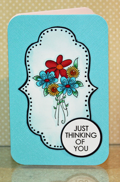 Thinking of you flower card