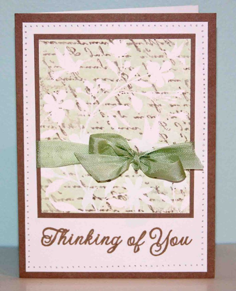 Thinking of you kissed card