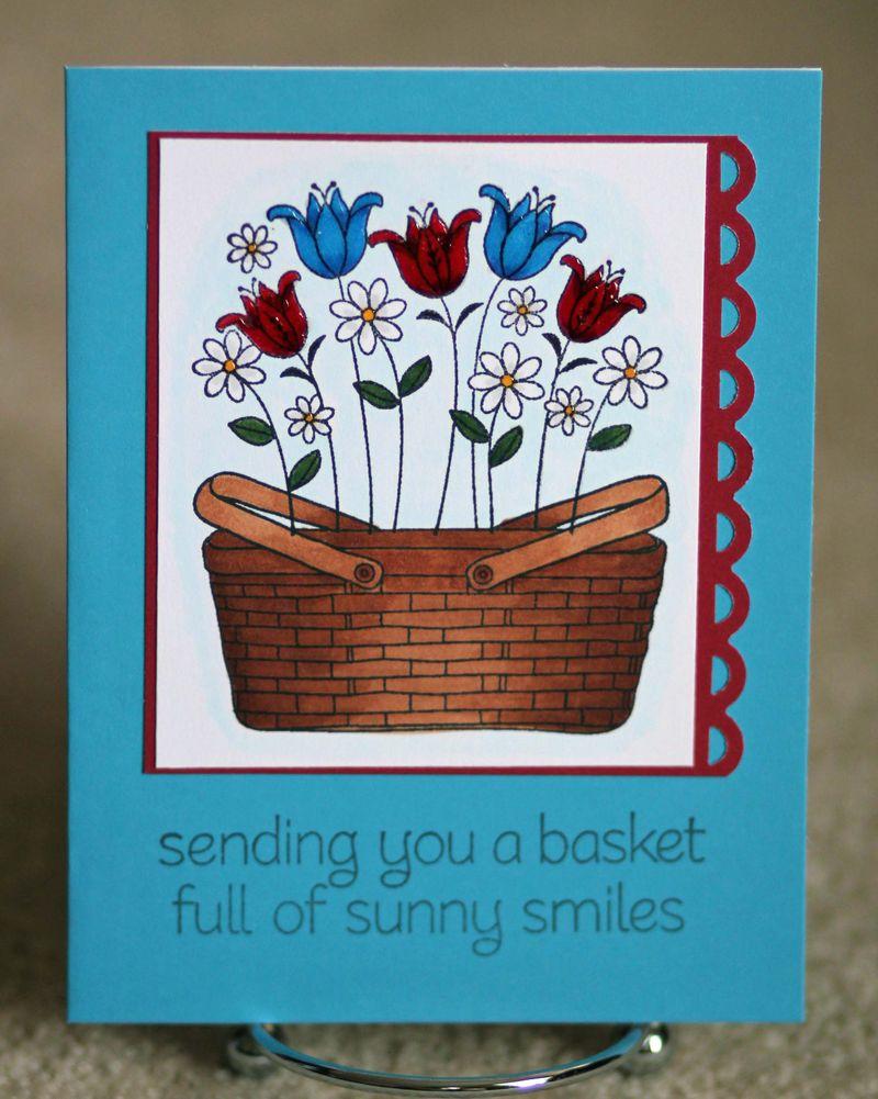 Flower basket card