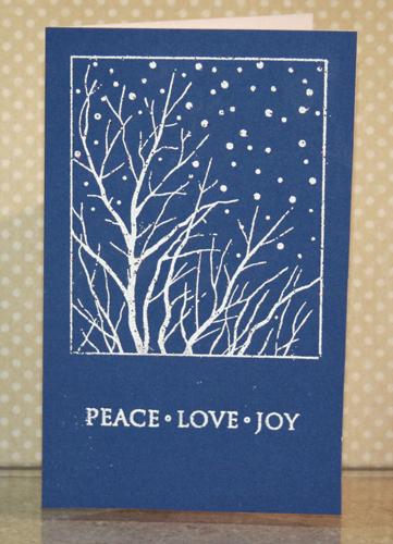 Snowflake tinsel card 1