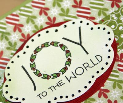 Joy card close up
