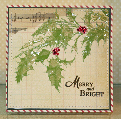 Holly card front