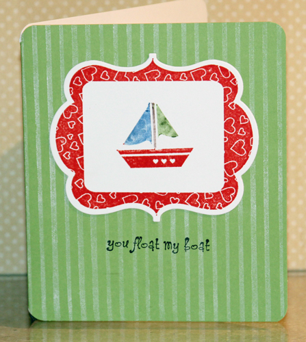You float my boat card front