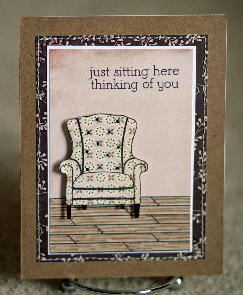 Sitting here card