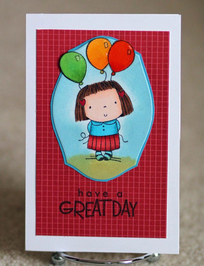 Great day balloon card