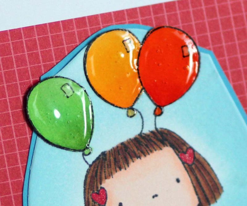 Great day balloon card close up