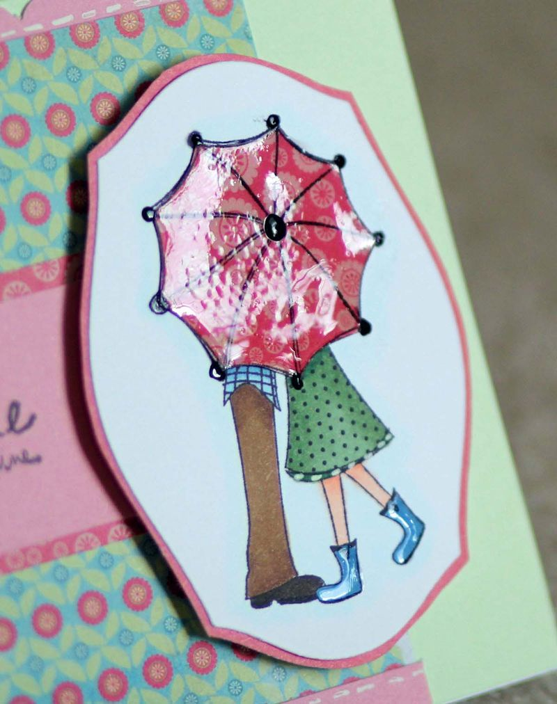 Rain or shine card close up