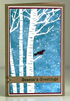 Bird in birches card resize