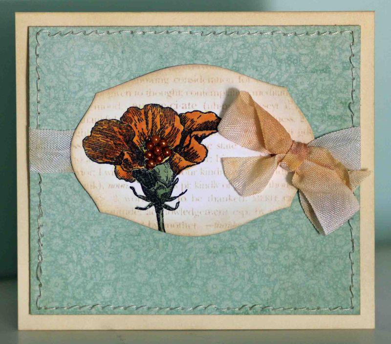 Gold flower card
