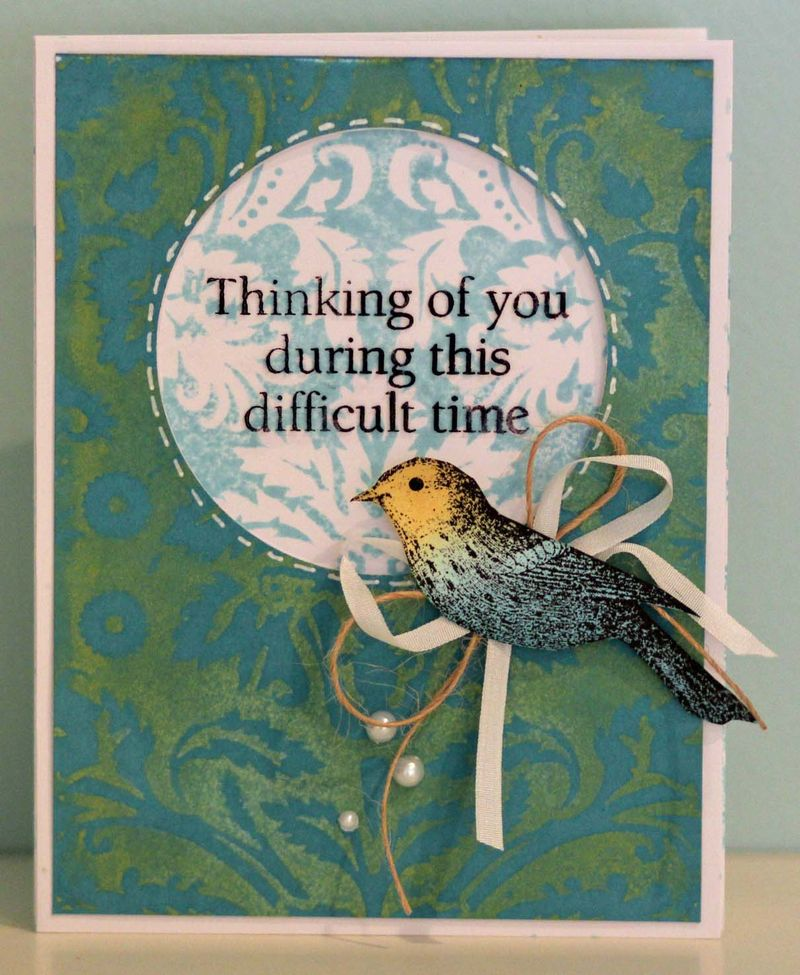 Thinking of you J class card