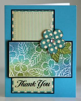 Thank you blue flower card
