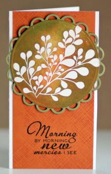 New Mercies orange card