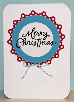 Merry Christmas white card