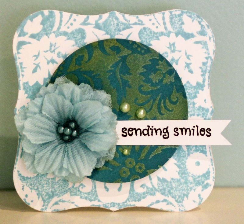 Sending smiles shaped card