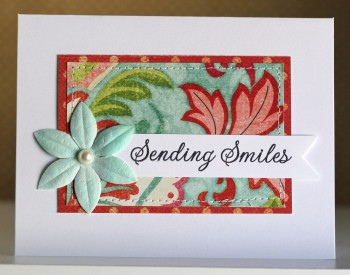 Sending smiles white card