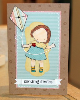 Sending smiles kite girl