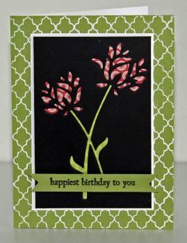 Birthday die cut flower card 1