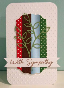 With Sympathy washi card