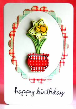 Happy birthday claudine flower pot card lower res