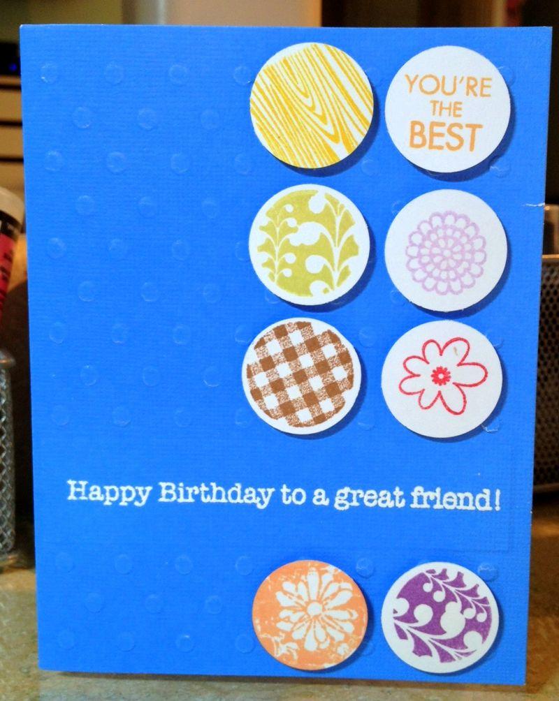 Birthday card from Sandi