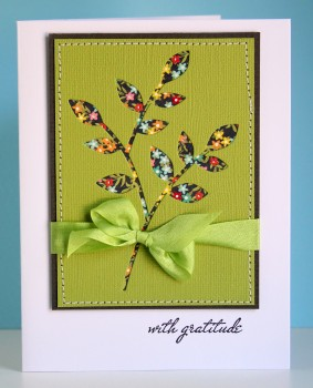 With gratitude negative space card
