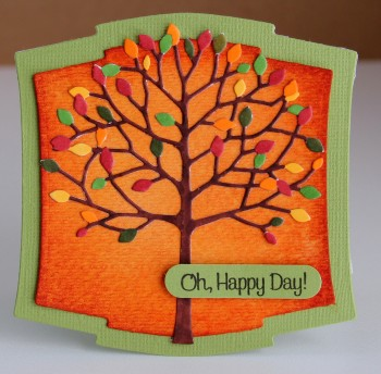 Oh Happy Day tree card lower res
