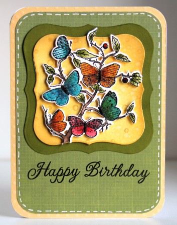 Butterfly flock stamp lower res