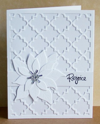White template card paper poinsettia lower res