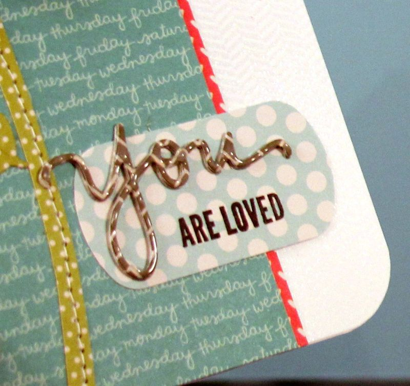 You are Loved Hero Flower card close up 1