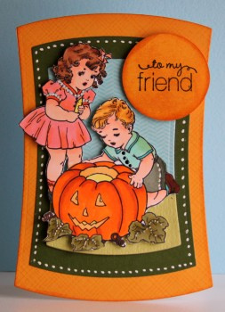 To my friend vintage pumpkin card lower res