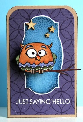 Just saying hello owl card lower res