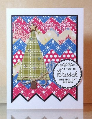 Chevron Christmas card lower res