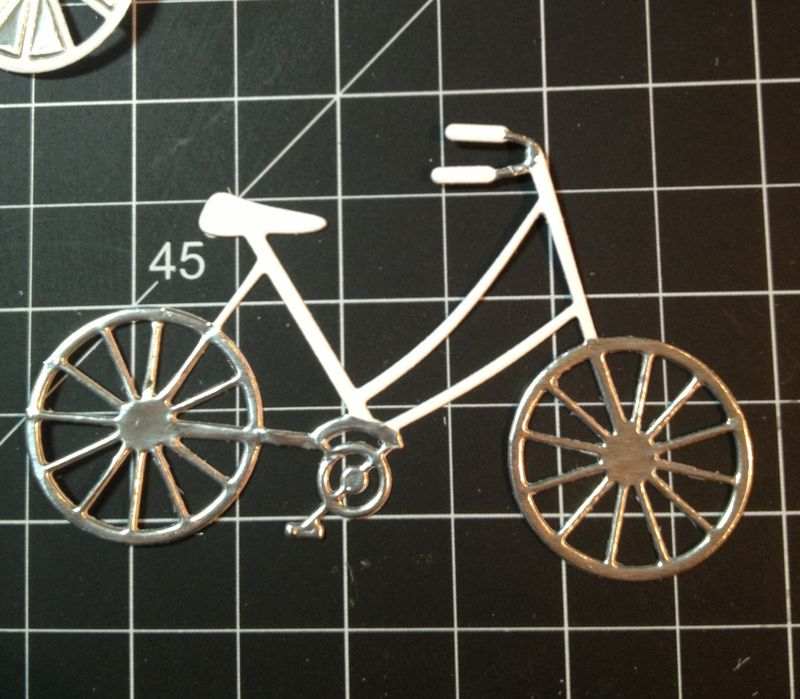 Do something awesome bicycle card in process