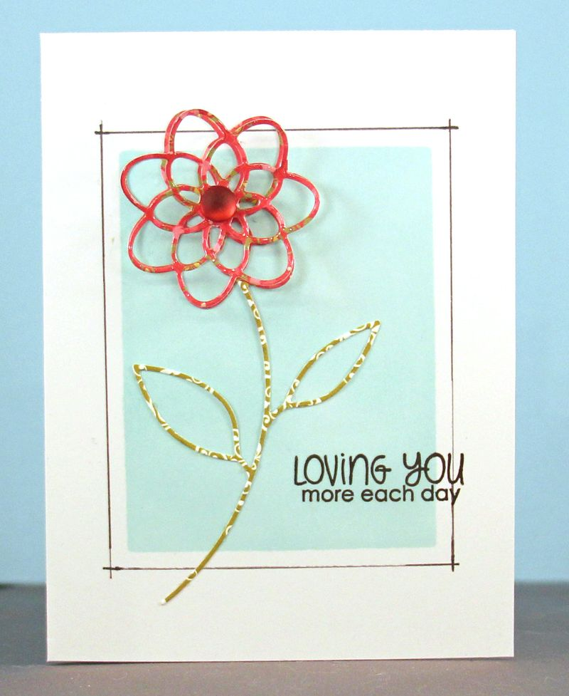Loving you more each day card