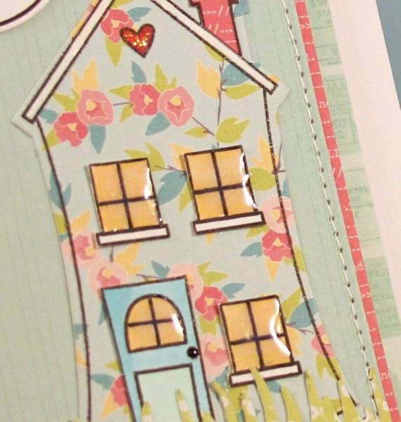 Hello House card close up