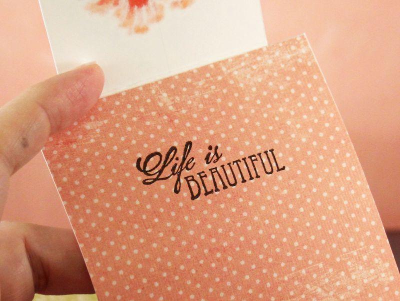 Penny Black Flower card inside