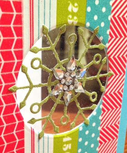 Washi snowflake window card close up lower res