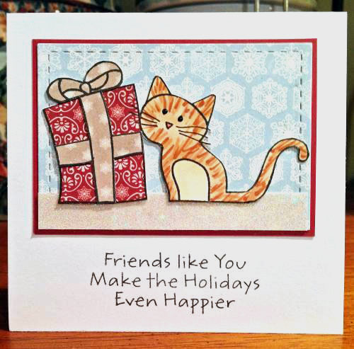 Friends like you Christmas kitty card lower res