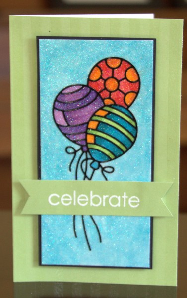Celebrate sparkly balloons card lower res