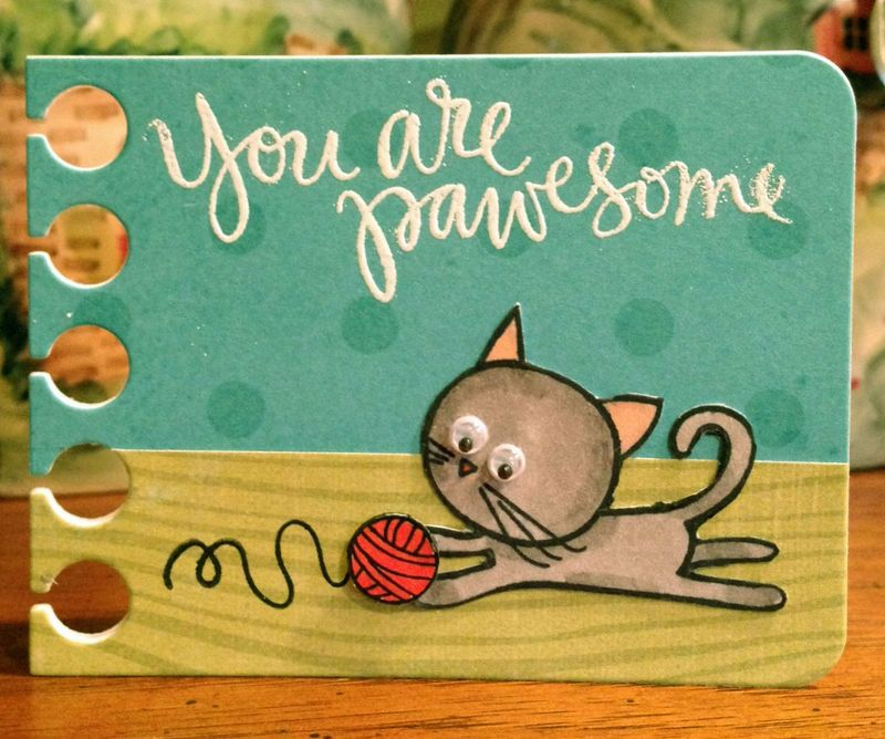 You are Pawesome card from iphone