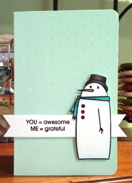 You equal awesome snowman card lower res