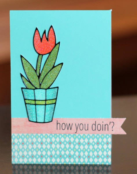 How you doing flower card lower res