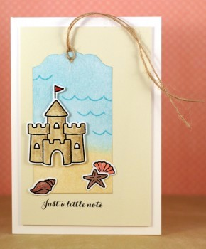 Just a little note sandcastle card lower res