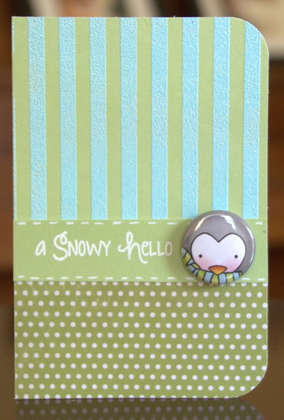 A Snowy Hello flair card lower res