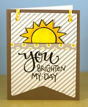 You Brighten my day card lower res